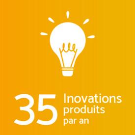 35 Inovations produits par an