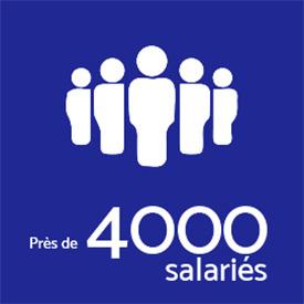 Près de 4000 salariés