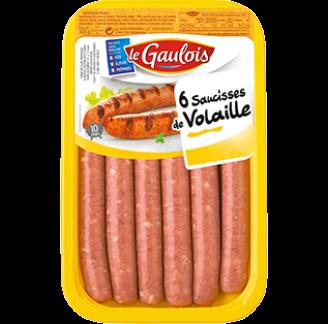 Le Gaulois - Saucisses de volaille Le Gaulois