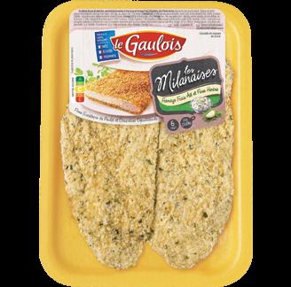 Le Gaulois - Escalopes de poulet milanaise fromage frais, ail et fines herbes