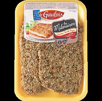 Le Gaulois - Escalopes de dinde milanaises tomate origan Le Gaulois