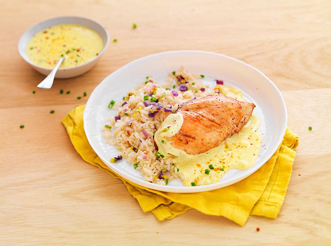 Filets de poulet au curry et gingembre - Le Gaulois