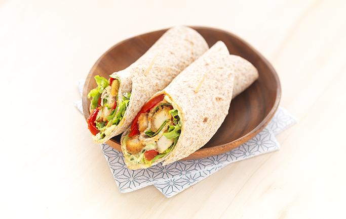 Wrap Escalopes Soja & Blé et salsa d'avocat