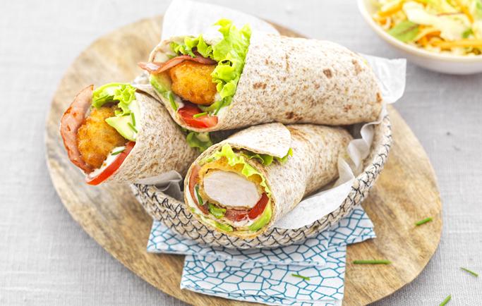 Wrap aux Nuggets Extra Croustillant, avocat et bacon