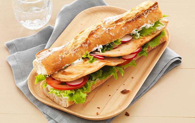 Sandwich Tendrefines et croquant de légumes - Le Gaulois